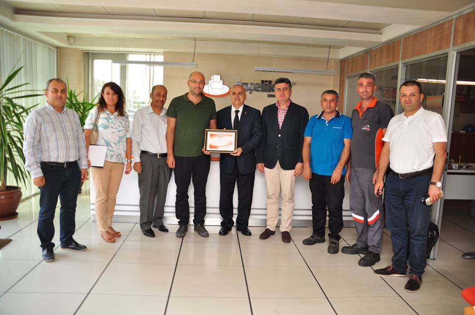 OSTIM Chairman of the Board, Mr. Orhan Aydın's visit to our company.
